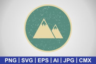 Print on Demand: Vector Mountains Icon Graphic Icons By IYIKON