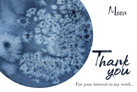 Watercolor Moon Clipart Magic Mysterious Graphic Design Item