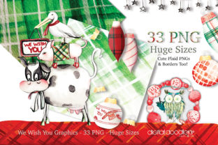 Print on Demand: We Wish You Watercolor Christmas Graphic Illustrations By Digital Doodlers