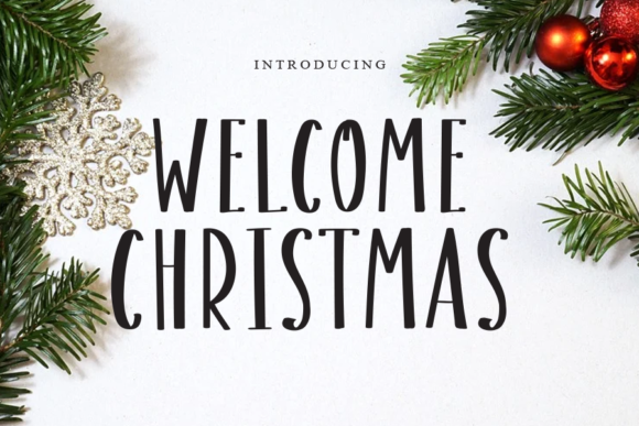 Print on Demand: Welcome Christmas Script & Handwritten Font By gunawanletter