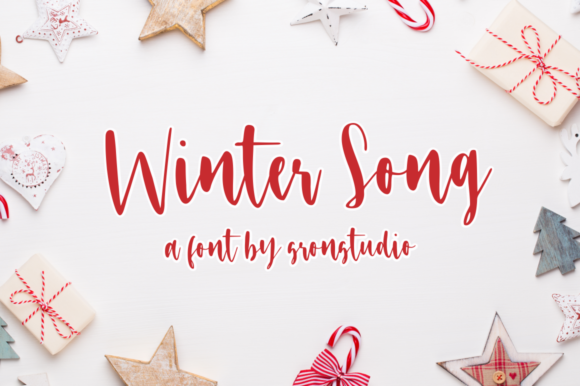 Print on Demand: Winter Song Script & Handwritten Font By Sronstudio