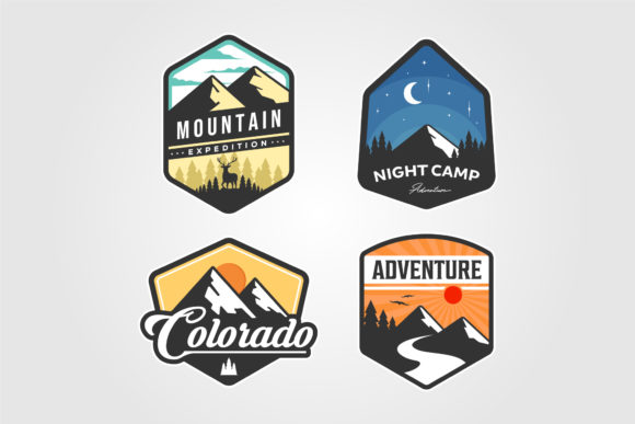 Set of Adventure Traveling Logo Vector Graphic Logos By lawoel