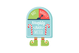 Naughty-Nice Meter Christmas Craft Cut File By Creative Fabrica Crafts