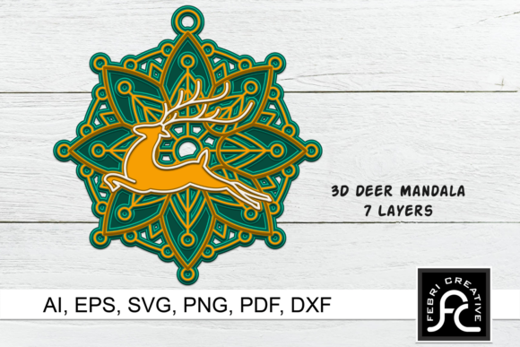 Print on Demand: 3D Layered Christmas Ornaments SVG Graphic 3D Christmas By Febri Creative