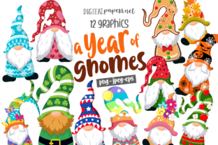 Print on Demand: A Year of Gnomes Graphic Illustrations By DigitalPapers