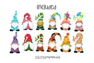 Print on Demand: A Year of Gnomes Graphic Illustrations By DigitalPapers 2
