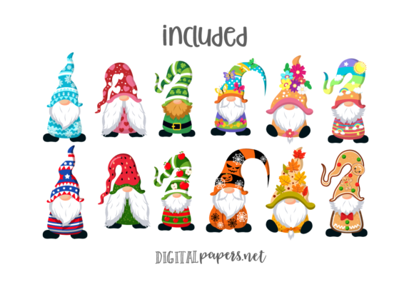 A Year of Gnomes Graphic Download