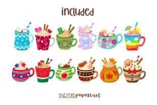 Print on Demand: A Year of Mugs Clipart Set Graphic Illustrations By DigitalPapers 2