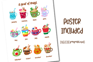 Print on Demand: A Year of Mugs Clipart Set Graphic Illustrations By DigitalPapers 3