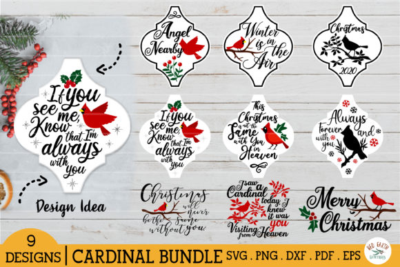 Arabesque Cardinal Christmas Tile Graphic Crafts By redearth and gumtrees