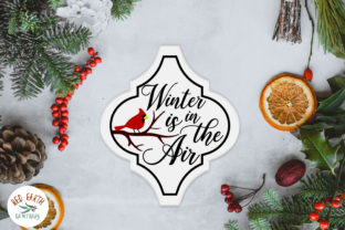 Arabesque Cardinal Christmas Tile Graphic Crafts By redearth and gumtrees 2