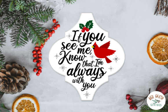Arabesque Cardinal Christmas Tile Graphic Item