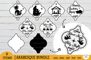 Arabesque Christmas Nativity Tile Graphic Crafts By redearth and gumtrees