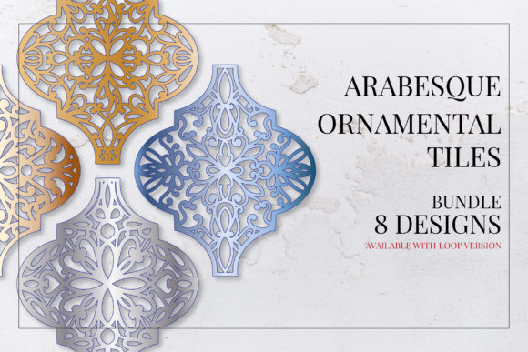 Print on Demand: Arabesque Christmas Ornamental Tiles Graphic Illustrations By Craft Point Art