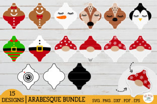 Arabesque Christmas Tile Bundle Graphic Crafts By redearth and gumtrees
