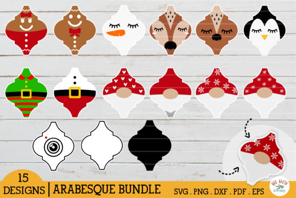 Arabesque Christmas Tile Bundle Gráfico Crafts Por redearth and gumtrees