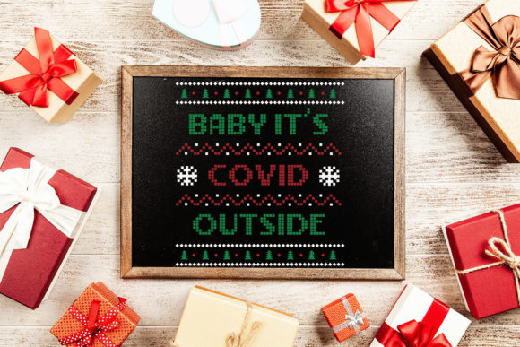 Baby Its COVID Outside Christmas Sweater Graphic Item