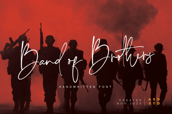 Print on Demand: Band of Brothers Script & Handwritten Font By Asd Studio