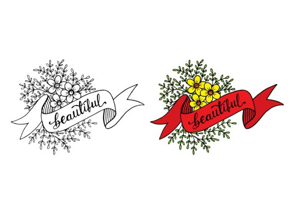 Beautiful Hand Lettering with Ribbon Graphic Illustrations By Santy Kamal