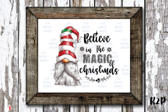 Print on Demand: Believe in the Magic Christmas Clipart Graphic Illustrations By KtwoP