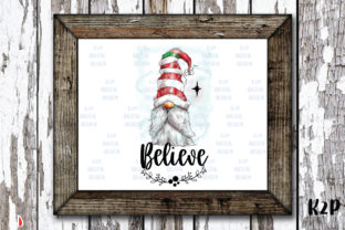 Print on Demand: Believes Gnome Christmas Sublimation Graphic Illustrations By KtwoP