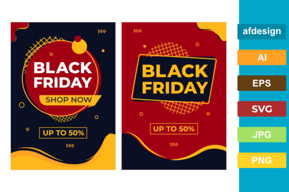 Black Friday A3 Poster Graphic Graphic Templates By semu creative