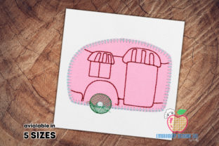 Camper is Made As the Birdhouse Applique Camping & Fishing Embroidery Design By embroiderydesigns101