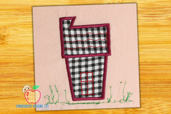 Cartoon House Applique House & Home Quotes Embroidery Design By embroiderydesigns101