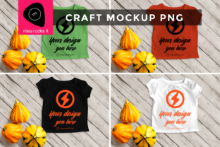 Child's Tee with Fall Gourds PNG Mockup Graphic Product Mockups By RisaRocksIt