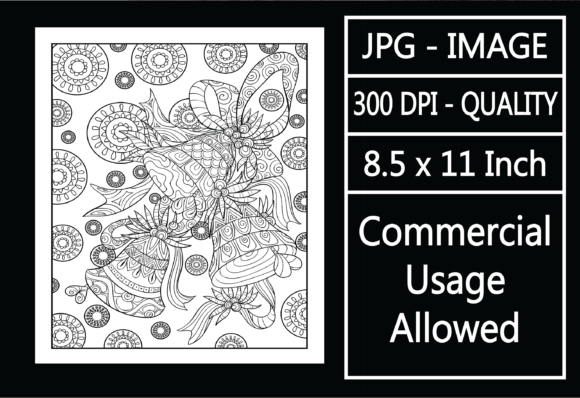 Print on Demand: Christmas Adult Coloring Page 64 Special Graphic KDP Interiors By design-world