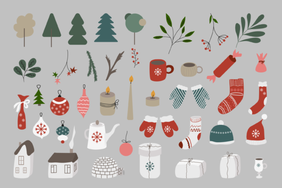 Christmas Clipart Bundle Graphic Objects By CuteShopClipArt