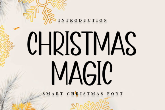 Print on Demand: Christmas Magic Sans Serif Font By NYA Letter