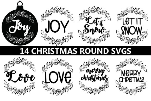 Christmas Round, Christmas Ornament Graphic Crafts By Paper switch