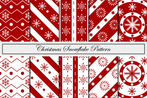 Print on Demand: Christmas Snowflake Pattern Graphic Patterns By Mahesa Design