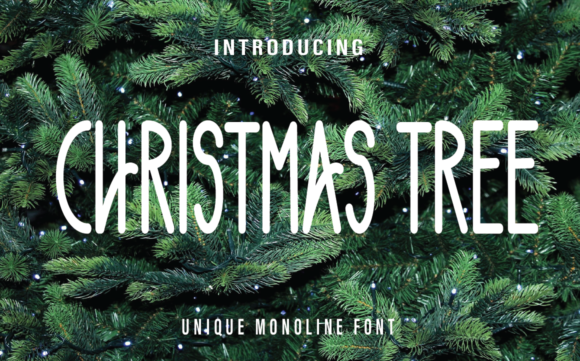 Print on Demand: Christmas Tree Script & Handwritten Font By Farz Studio