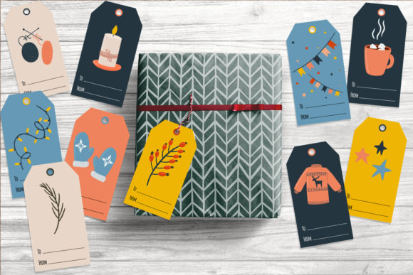 Christmas Gift Tags - 10 Templates Graphic Illustrations By nastiatrel