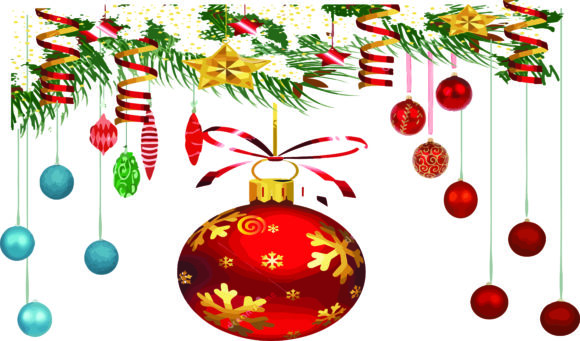 Colorful Christmas Ornaments, Globes,png Graphic Graphic Templates By AlaBala