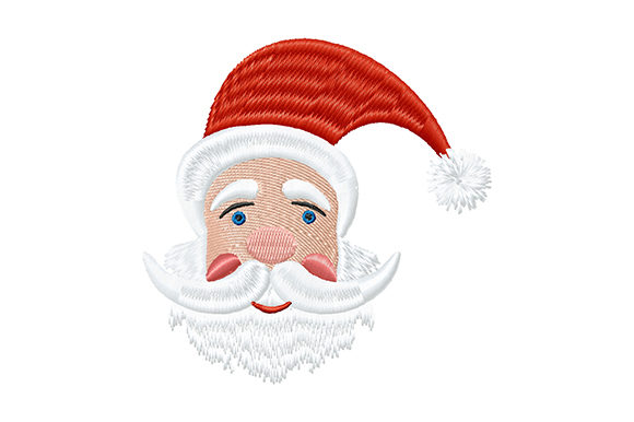 Print on Demand: Cute Christmas Santa Claus Christmas Embroidery Design By EmbArt