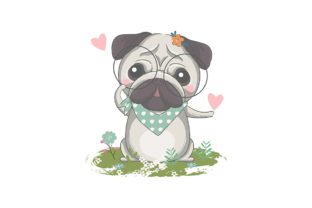 Cute Little Pug Illustration Graphic Illustrations By rorozoagraphic