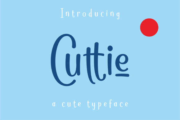Print on Demand: Cuttie Script & Handwritten Font By dickysyafaat