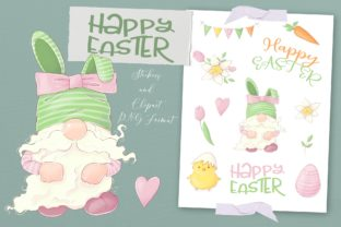 Easter Bunny Gnome Clipart Graphic Illustrations By nicjulia