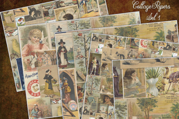 Print on Demand: Ephemera Collage Sheets Graphic Transportation By LilBitDistressed