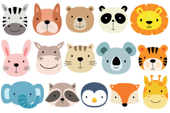 Face Animals Graphic Illustrations By medzcreative
