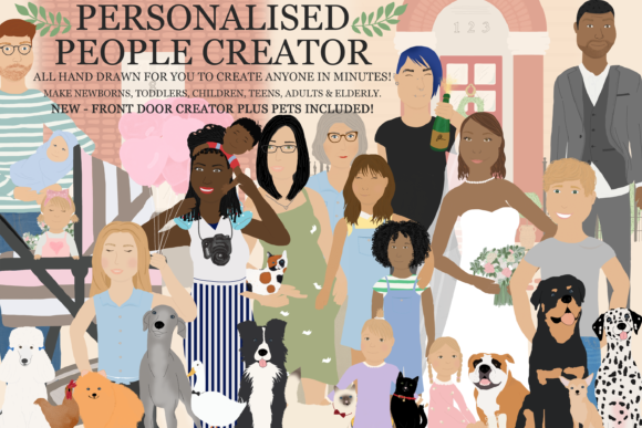 Print on Demand: Family, Creator, People, Portrait Graphic Illustrations By CommercialCliparts