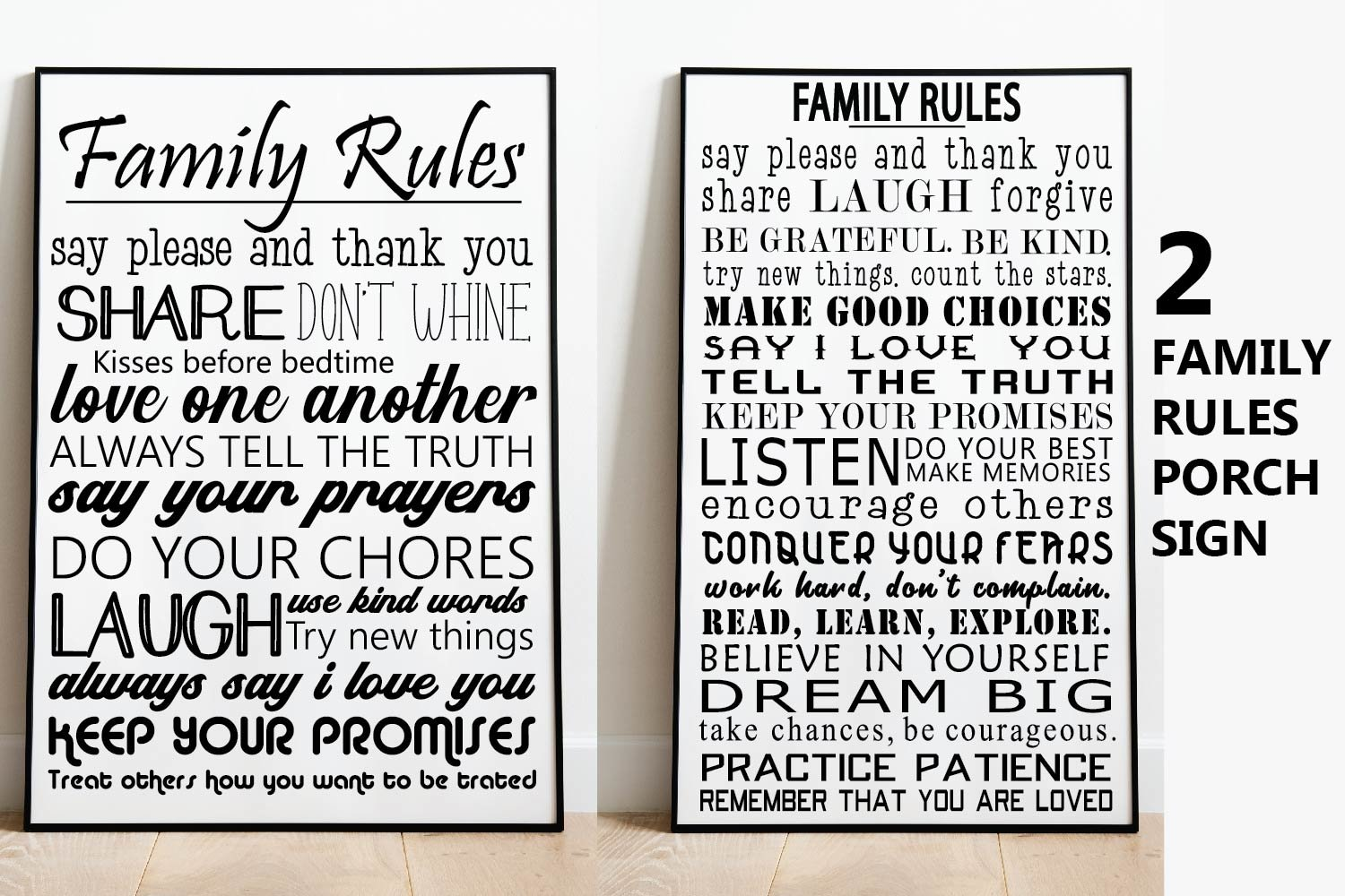 Family Rules Sign,Family Quote SVG File