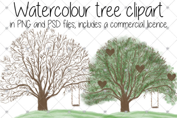 Print on Demand: Family Tree, Watercolour, Tree, Trees, Graphic Illustrations By CommercialCliparts