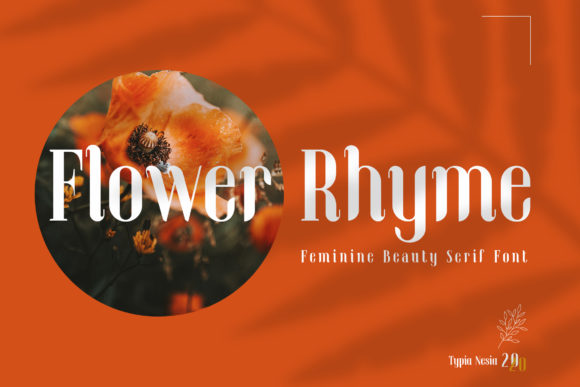 Print on Demand: Flower Rhyme Serif Fuente Por Typia Nesia