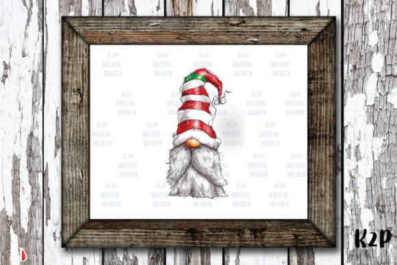 Print on Demand: Christmas Gnome Character HandDrawn Graphic Illustrations By KtwoP