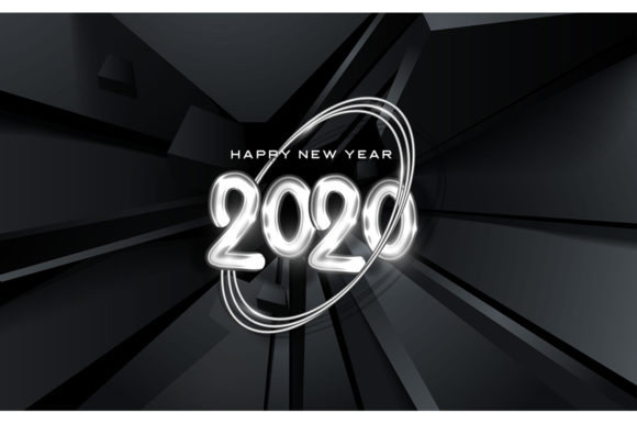 Happy New 2020 Year Festive Party Sign Graphic Illustrations By rorozoagraphic
