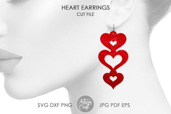 Print on Demand: Heat Earrings Graphic Crafts By Artisan Craft SVG